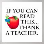 Regalo del profesor posters