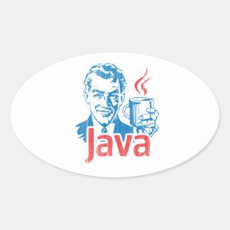 Regalo del programador de Java Pegatina Ovalada
