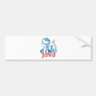 Regalo del programador de Java Pegatina Para Auto