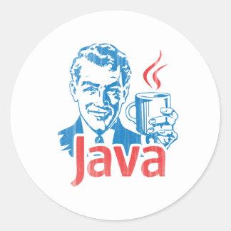 Regalo del programador de Java Pegatina Redonda
