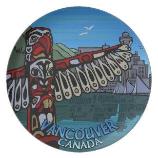 Regalo del recuerdo del arte de Vancouver de la pl Platos De Comidas