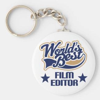Regalo del redactor de la película (mundos mejores llaveros personalizados
