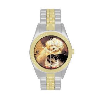 Regalo del reloj del perro y del gato