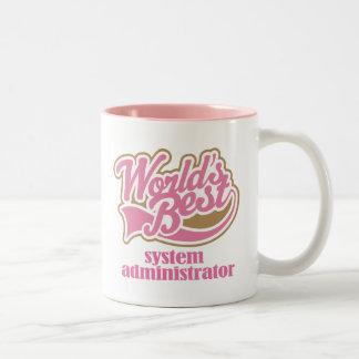 Regalo del rosa del administrador de sistemas taza