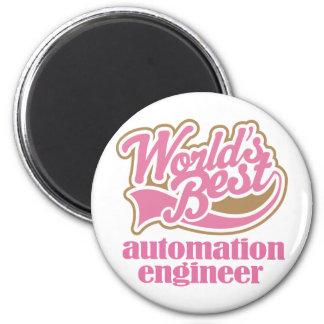 Regalo del rosa del ingeniero de la automatización imán redondo 5 cm