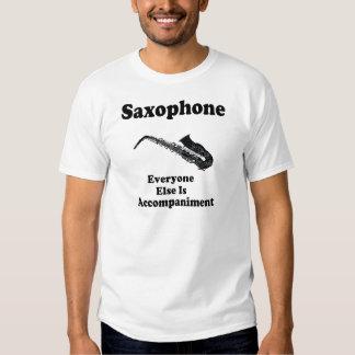 Regalo del saxofón poleras