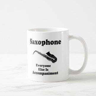 Regalo del saxofón taza