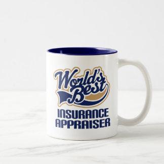 Regalo del tasador del seguro (mundos mejores) tazas de café