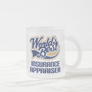 Regalo del tasador del seguro (mundos mejores) taza