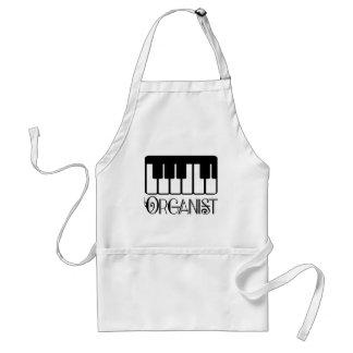 Regalo del teclado del organista delantales