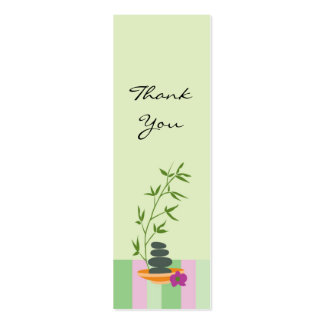Regalo del tema del balneario o etiqueta del favor tarjetas de visita mini