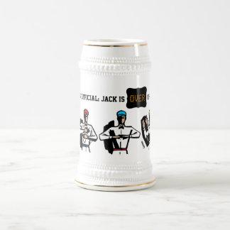 Regalo del tema del fiesta del fútbol del jarra de cerveza