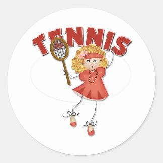 Regalo del tenis de las mujeres pegatina