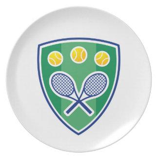 Regalo del tenis platos