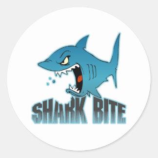 Regalo del tiburón pegatina redonda