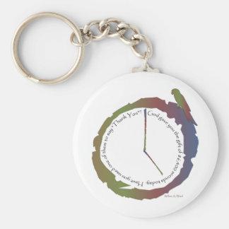 Regalo del tiempo (reloj) llavero