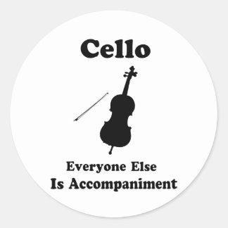 Regalo del violoncelo pegatina redonda