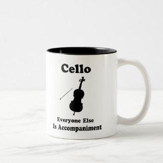 Regalo del violoncelo taza