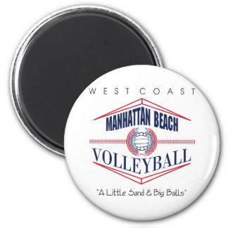 Regalo del voleibol de Manhattan Beach Imán Redondo 5 Cm