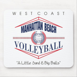 Regalo del voleibol de Manhattan Beach Mouse Pads