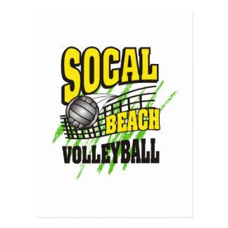 Regalo del voleibol de playa de California Postales