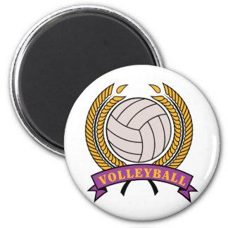 Regalo del voleibol imán redondo 5 cm