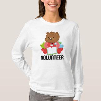Regalo del voluntario de la biblioteca del oso de playera