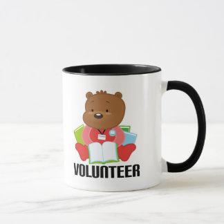 Regalo del voluntario de la biblioteca del oso de taza
