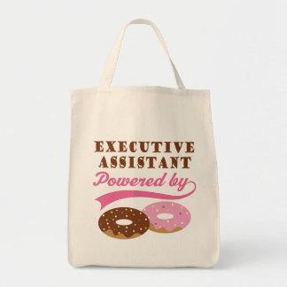 Regalo divertido auxiliar ejecutivo bolsa tela para la compra
