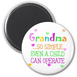 Regalo divertido de la abuela imanes