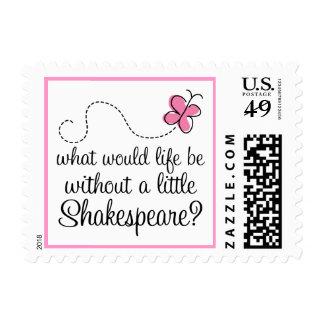 Regalo divertido de la cita de Shakespeare Estampilla