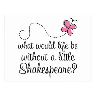 Regalo divertido de la cita de Shakespeare Tarjetas Postales
