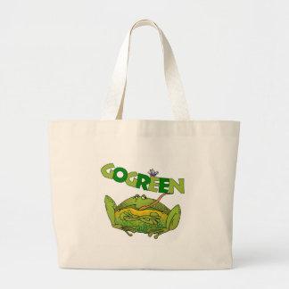 Regalo divertido de la ecología de la rana verde bolsas de mano