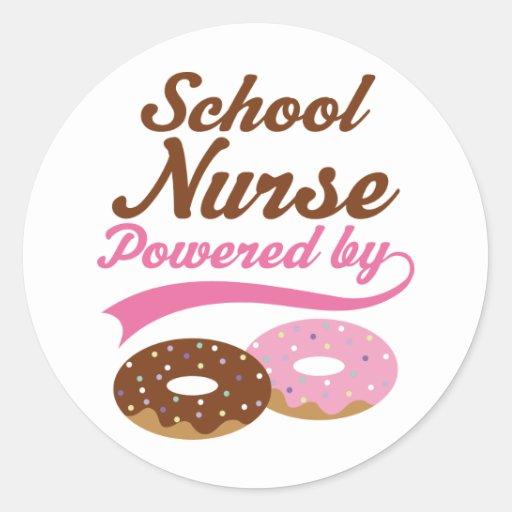 Regalo divertido de la enfermera de la escuela etiqueta