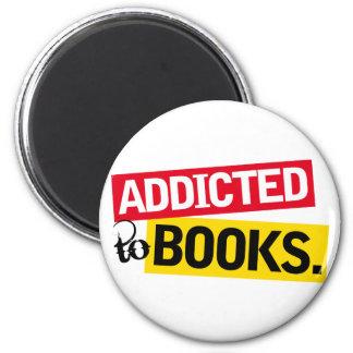 Regalo divertido de la lectura del adicto al libro imán redondo 5 cm