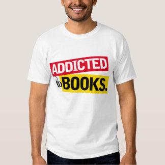 Regalo divertido de la lectura del adicto al libro playeras