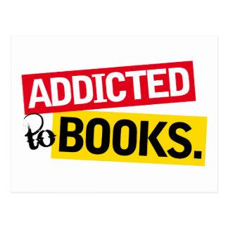 Regalo divertido de la lectura del adicto al libro postales