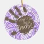 Regalo divertido de la mamá; Modelo púrpura de Pai Adornos