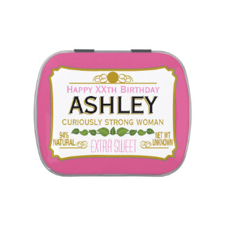 Regalo divertido de la mordaza del cumpleaños para jarrones de caramelos