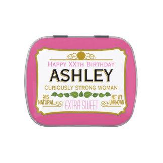 Regalo divertido de la mordaza del cumpleaños para latas de caramelos
