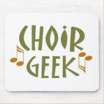 Regalo divertido de la música del friki del coro tapete de ratones
