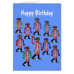 Regalo divertido de la tarjeta de cumpleaños del t