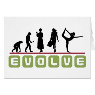 Regalo divertido de la yoga tarjeton