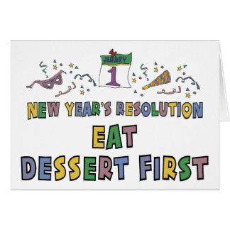 Regalo divertido de las resoluciones del Año Nuevo Felicitaciones