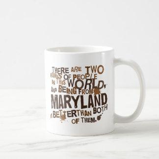 Regalo (divertido) de Maryland Taza Básica Blanca