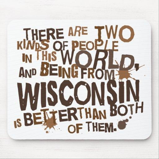 Regalo (divertido) de Wisconsin Tapete De Ratón