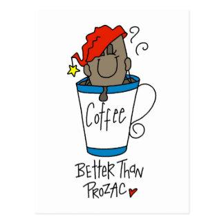 Regalo divertido del amante del café postales