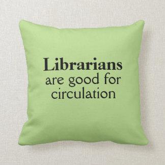 Regalo divertido del bibliotecario bueno para el cojín