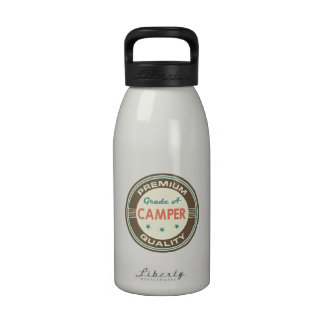 Regalo divertido del campista (calidad superior) botella de agua