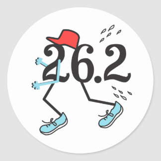 Regalo divertido del © del maratón 26,2 para el pegatina redonda